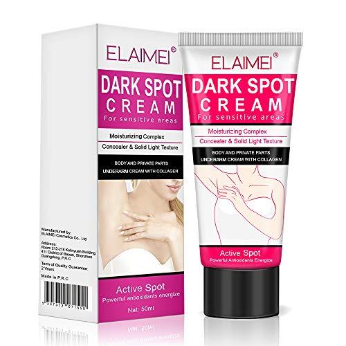 Crema Correctora de manchas oscuras, Crema corporal natural para rodillas, codos, áreas privadas, Corrector de punto oscuro, Corrector de puntos oscuros, Resultado instantáneo
