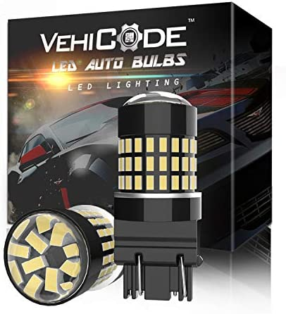 VehiCode 3157 LED Bulb White Light 6000K Bright Kit 3155 3156 3047 3056 4114 4157 P27W Dual product image