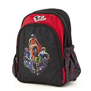 51b4yV7bPUL. SS300  - MotoGP Schulrucksack/Backpack mit 2 Reißverschlussfächern 18MGP-903-RD Mochila Escolar 35 Centimeters Multicolor (Red, Black)