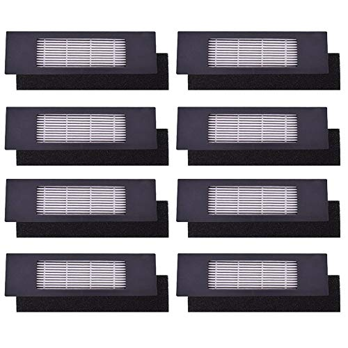Neutop High Efficiency Filter Sets Replacement for Ecovacs Deebot OZMO 920, 950, T5, T8 AIVI Robot Vacuums, 8-Pack.