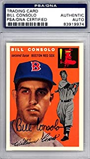 Bill Consolo Signed 1994 1954 Topps Archives Reprint Trading Card #195 Boston Red Sox - PSA/DNA Authentication - Autographed MLB Trading Cards
