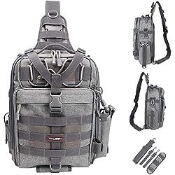 YVLEEN Fishing Tackle Bag Bundle with Fishing Tackle Box