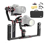 Feiyu a2000 Dual Hand Grip Kit 3-Axis Camera Gimbal FeiyuTech DSLR Stabilizer for Canon 5D 6D Series, Sony A9 A7 Series a6500, a6000, Panasonic GH4/GH5, Payload: 250-2500g, w Carrying Case.