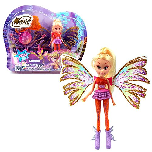 Winx Club Stella | Sirenix Mini Magic Puppe Fee mit Verwandlung | 12 cm