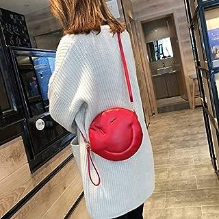 Fashion Single-Shoulder Bags Leisure Fashion PU Shoulder Bag Messenger Bag (Black) (Color : Red)