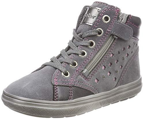Richter Kinderschuhe Mädchen Blinki (Ilva) Hohe Sneaker, Grau (Ash/Oldsilver/Candy 6301), 32 EU