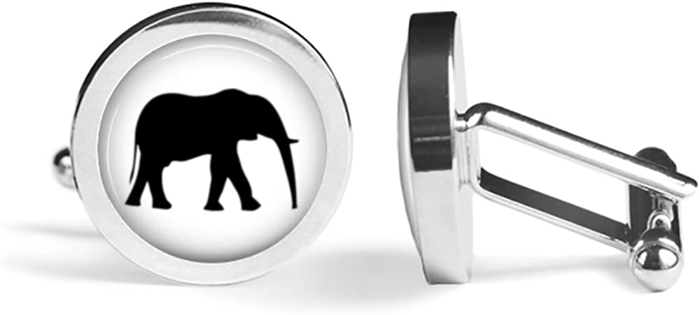 Elephant Seasonal Wrap Introduction Silhouette Cufflinks Edition Angled Max 45% OFF