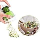Cuchillo en espiral 4 en 1, cortador manual de verduras, cortador de verduras en espiral, cortador de verduras, cortador en espiral para fideos de verduras, calabacines, pepinos, cebollas