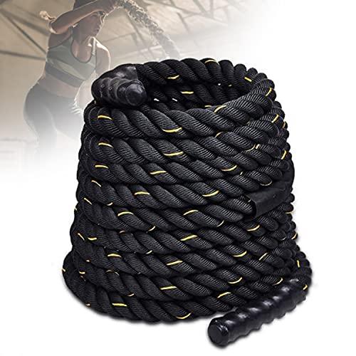 HIMABeauty Antideslizantes Battle Rope, 9m/12m/15m De Longitud Cuerda Deportiva con Funda Protectora para Entrenamiento De Gimnasio En Casa Cuerda Resistente,38mm*12m
