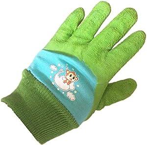 TP Z 2Pairs Age 3-5 Kids Gardening,Lawing,Working Gloves (Green, XXS)