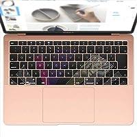 igsticker MacBook Air 13inch 2018 専用 キーボード用スキンシール キートップ ステッカー A1932 Apple マックブック エア ノートパソコン アクセサリー 保護 010412 風景 夜景 イラスト