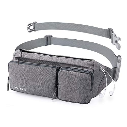 Pin Nice Fanny Pack for Women Men, Water Resistant Waist Bag Hip Pack, Phanny Pack for Girls Boys Teens, Chest Bum Bag for Phone Travel Sports, Strap Extension Extender Included, Upgraded Large Size