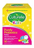 Culturelle Kids Purely Probiotics Packets - Daily Probiotic Supplement - Helps Support a Healthy Immune & Digestive System* - #1 Pediatrician Recommended Brand††† - 50 Single Packets