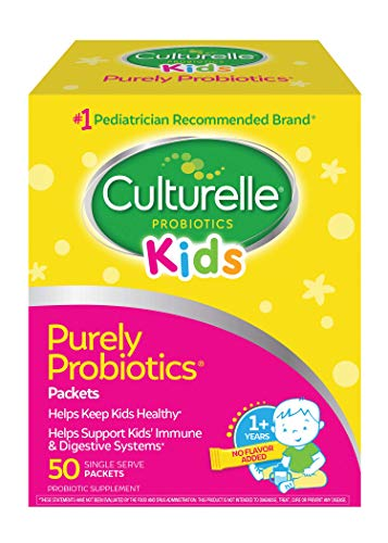 Culturelle Kids Purely Probiotics Packets - Daily Probiotic Supplement - Helps Support a Healthy Immune and Digestive System - 1 Pediatrician Recommended Brand - 50 Single Packets