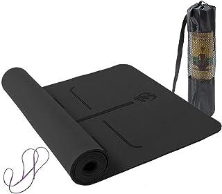 comprar comparacion Lixada Esterilla de Yoga Antideslizante TPE Insípido con Línea de Posición Colchoneta de Yoga Alfombrilla de Yoga para Fit...