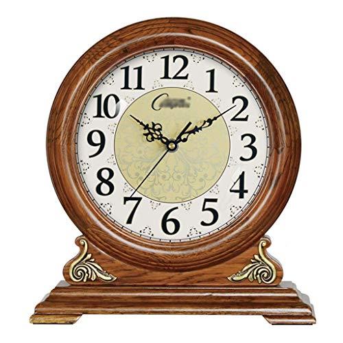 zvcv Reloj De Sobremesa, Reloj De Escritorio, Sala De Estar, Retro, Madera...