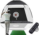"Rainlin Golf Net Golf Hitting Nets with Target Backyard Driving Range Swing Chipping Golfing Training Aids, Indoor Outdoor Golf Practice Net (10FT) with A Golf Hitting Mat (23.6' x11.8"")"