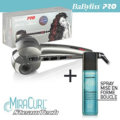 Babyliss pro - Fer à boucler Miracurl steamtech BAB2665SE vapeur the Perfect Curl Machine avec un spray curl foundation 177 ml - gamme professionnel
