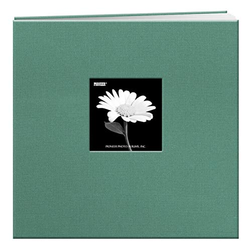 Pioneer 12-Inch by 12-Inch Fabric Frame Scrapbook, Aqua