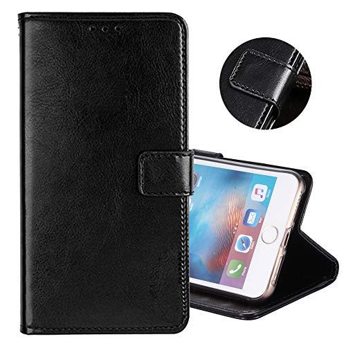 ZYQ Schwarz PU Leder Tasche Schutz TPU Silikon Gel Hülle Für Meizu M5s Handy Flip Brieftasche Case Cover Etui Klapphülle Handytasche