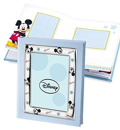 Disney Baby Topolino Mickey Mouse - Album Diario Fotografico Porta Foto per Regalo Battesimo Neonato o Compleanno Bambini