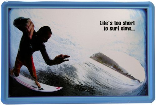 Blechschild Surfer Pipe 20 x 30 cm Reklame Retro Blech 144