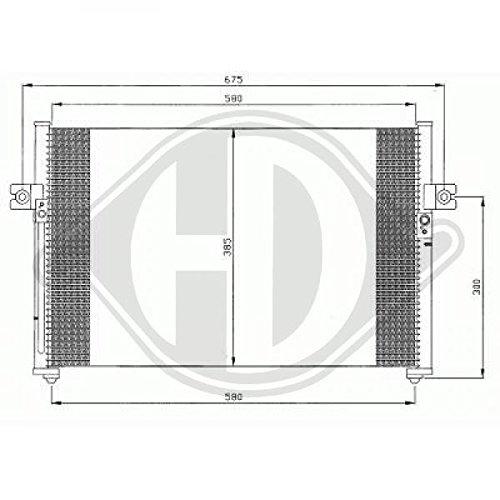 condenseur clim. H100,H150, 97-02 588x394 Pour Hyundai H 100/150 96->>