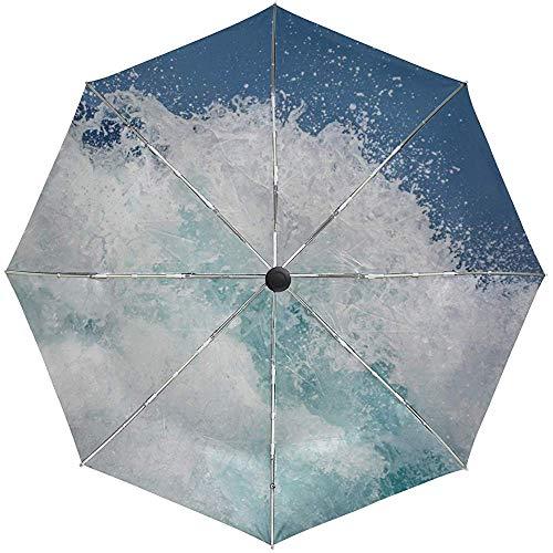 Automatische Regenschirm-Wellen-Seebrandungs-Spray-Reise Bequemes winddichtes wasserdichtes faltendes Auto öffnen Sich nah