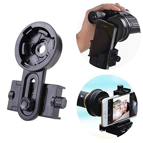 Shackcom Universal Smartphone Adapter für Teleskop Fernglas Kompatibel mit Binokularen Monokularen Spektiv Nachtsich Mikroskop Smartphone Halterung Adapter für iPhone Sony Samsung