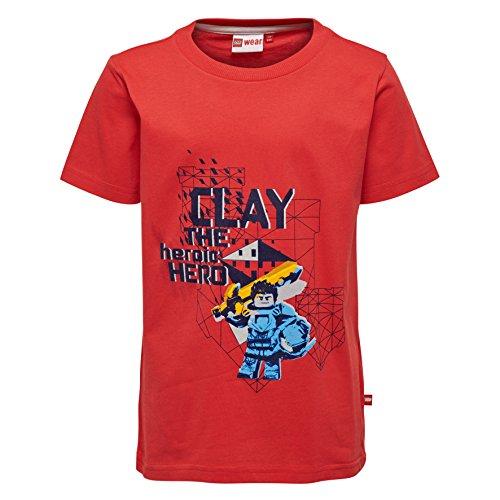 Lego Wear Jungen Lego Nexo Knights Thomas 304 T-Shirt, Rot (Red 349), 104