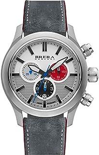BRERA OROLOGI - Reloj de Cuarzo Analógico para Hombre con Correa de Piel Mod. Nuovo Eterno Bret3c4302