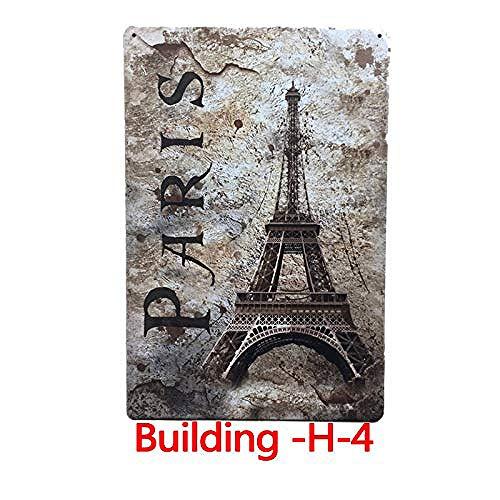 Taco Thursday The Eiffel Tower in Paris Souvenir Eisen malerei Vintage Metall Poster Blechschild Wandschild Plakette für Wohnheim Garage Schlafzimmer Cafeteria