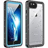 Huakay iPhone 6s Plus Waterproof Case iPhone 6 Plus Waterproof Case, Shockproof Dirtproof 360° Full Body Protection Waterproof for iPhone 6s Plus/iPhone 6 Plus(Blue/Clear)