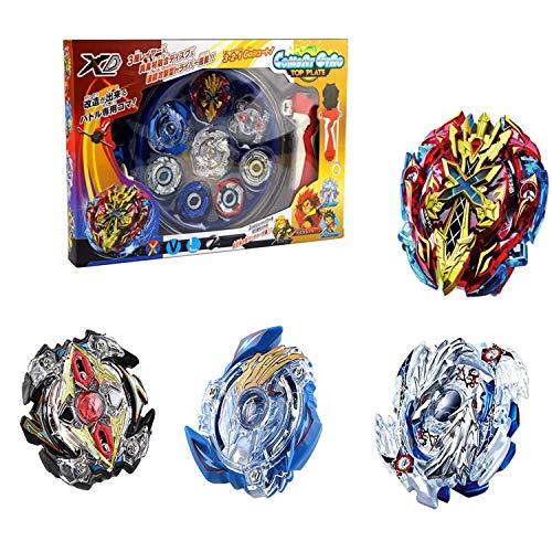 Burst Starter Trottola(4 Pezzi), Trottole da Combattimento Set Gyro Toy con Arena Toy Miglior Regalo Creativo per Bambini, Compleanno, Regalo di Natale, Capodanno, Pasqua