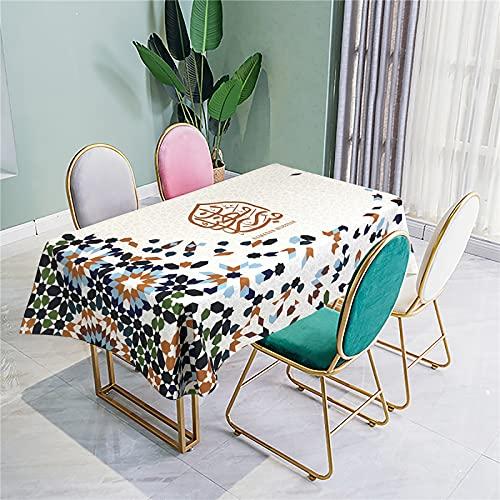 CCBAO Mantel Opcional Multicolor Mantel De Poliéster Mantel Rectangular Mantel Rectangular Mantel para Sala De Estar En Casa Mantel para Mesa Redonda Efecto 3D 140x140cm