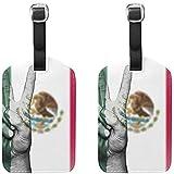 Bandera de México Paz Equipaje de Mano Etiquetas Etiquetas de Viaje Maleta Bolsa Etiqueta con Nombre Tarjetas de dirección Accesorios de Viaje Paquete de 2