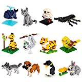 Kimiangel 12PCS Party Favors for Kids, Mini Animals Building Blocks Sets for Goodie Bags, Prizes, Birthday Gifts (12 Different Animals Blocks)