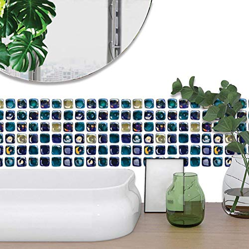 YCEOT 6Pc 3D Tegel Sticker Huisdecoratie Waterdichte Badkamer Muurstickers