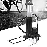 VGEBY Rueda de inflador de Tipo de Pedal Bomba de Aire de barómetro de inflador de Tipo de Pedal para Bicicleta de montaña E-Bike(Negro)