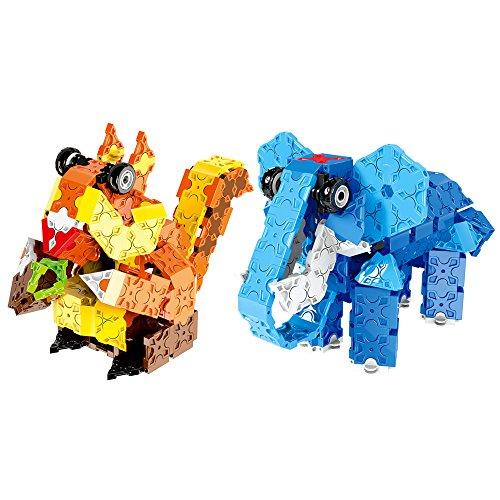 WEofferwhatYOUwant Jeu Blocs Plats pour Construction en 3D Éléphant et Écureuil. 564 pièces pour créer Votre Animal.