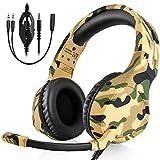 BUTFULAKE Gaming Headset Deep Bass Surround Sound, 3.5mm Headphone with Microphone, Volume/Mic Control