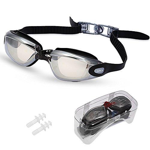 Kurzsichtigen Schwimmbrille Sinca Schwimmbrille mit Sehstärke Antibeschlag UV-Schutz mit Myopie Kurzsichtigkeit Dioptrien -2