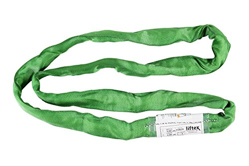 Liftex ENR2X3PD Endless Roundup Roundsling, 5300 lb. Vertical, 4200 lb. Choker, 10600 lb. Basket, 3', Green