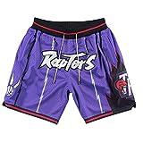 PQMW Raptors - Pantalones cortos de baloncesto para hombre, edición para el verano, diseño retro