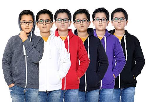 Unisex Boys Girls Plain Zip Up Hooded Sweatshirt Hoodies Top Jumper School Wear Hoodies UK Size 1 13 Years Grey 3years