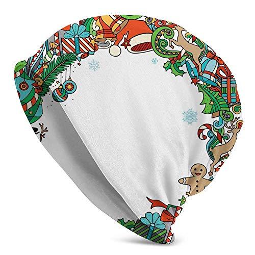Gran colección de símbolos navideños Árbol de Navidad para Fiestas Divertidas Marco estacional Beanie Hat Gorros Deportivos Diademas Anchas Bufanda Sombreros