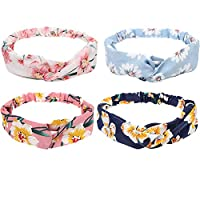 LOAVER Women Headbands, Face Washing Hair Band Hair Wrap Hair Accessories-4Pieces