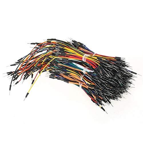 650pcs Stecker-Stecker lötfreie Pliable Versuchsaufbau Jumper Cables Wires Musikinstrumente & DJ-Equipment