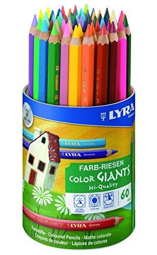 LYRA Farb-Riesen Runddose mit 60 Farbstiften, Sortiert