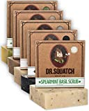 Dr. Squatch Men's Soap Variety Pack – Manly Scent Bar Soaps: Cedar Citrus, Spearmint Basil, Cool Fresh Aloe, Pine Tar, Gold Moss – Handmade with Organic Oils in USA (5 Bars)